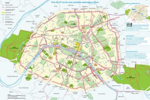 bike routes in paris