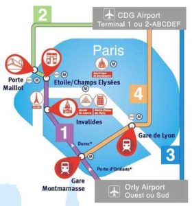 Rejoindre paris depuis l a roport roissy charles de gaulle - Trajet metro gare de lyon porte de versailles ...