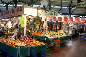 Inside of the covered market of Saint Quentin - neighborhood gare de l'Est