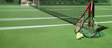 Tennis (terrain, raquettes et balles de tennis)