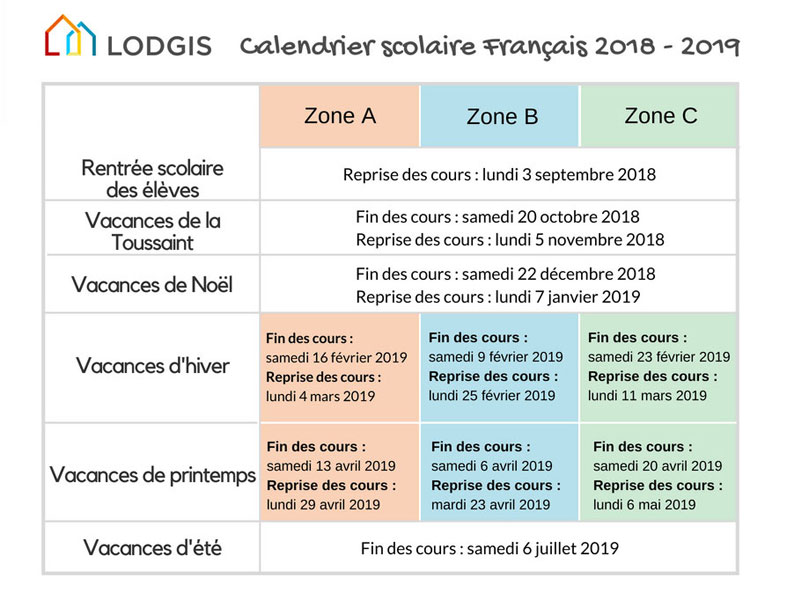 calendrier-scolaire-français-2019