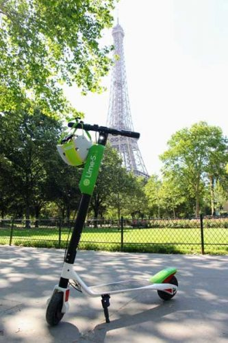 electric scooters lime paris
